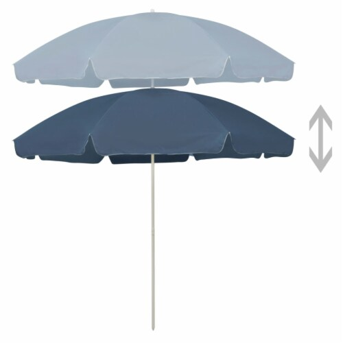 vidaXL Beach Umbrella Blue 118.1 Perspective: top