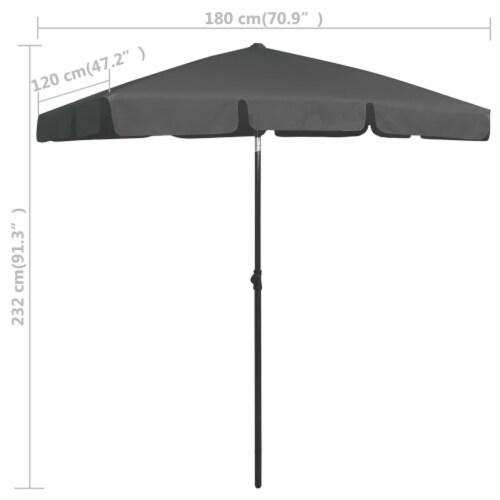 vidaXL Beach Umbrella Anthracite 70.9 x47.2 Perspective: top