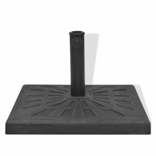 vidaXL Parasol Base Resin Square Black 41.9 lb Perspective: top
