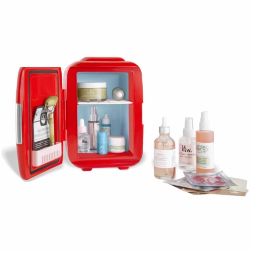 Cooluli Classic 4 Liter Portable Compact Mini Fridge - Red Perspective: top