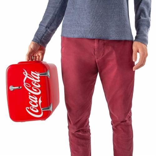 Cooluli Coca-Cola Vintage Chic 4 Liter Portable Compact Mini Fridge Perspective: top