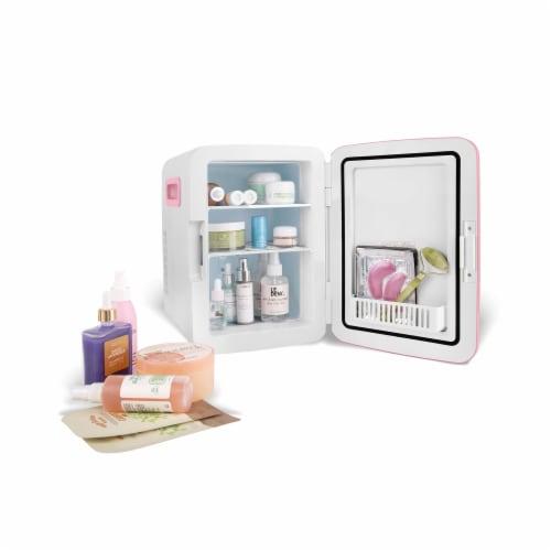 Cooluli Classic 15 Liter Portable Compact Mini Fridge - Pink Perspective: top