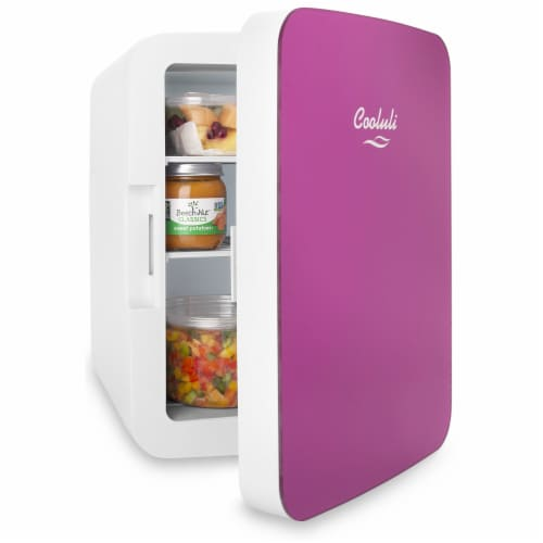Cooluli Infinity 15 Liter Portable Compact Mini Fridge - Pink Perspective: top