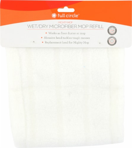 Full Circle Mighty Mop Wet/Dry Microfiber Mop Refill - White Perspective: top