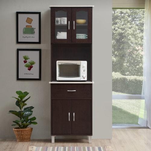 Kitchen Cabinet in Chocolate Gray - Hodedah Perspective: top