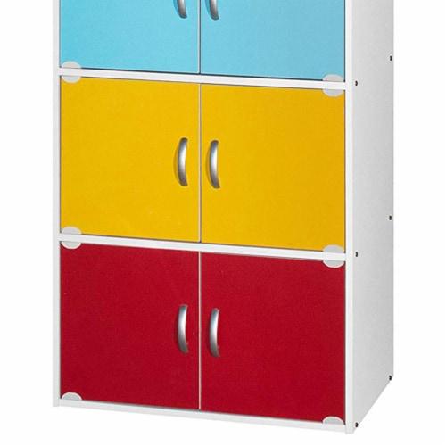 Hodedah 5-Shelf, 10-Door Bookcase in Rainbow Perspective: top