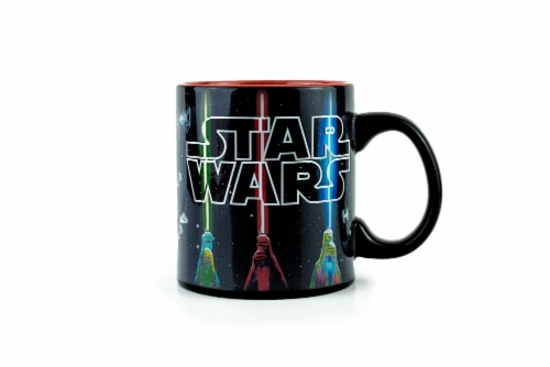 Star Wars Lightsaber Mug | Star Wars Heat Changing Mug | Holds 20 Ounces Perspective: top
