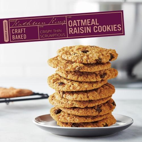 Tate's Bake Shop Oatmeal Raisin Cookies Perspective: top