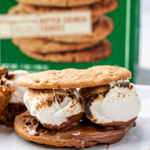 Tate's Bake Shop Butter Crunch Cookies Perspective: top