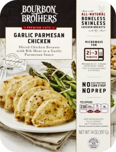 Bourbon Brothers Garlic Parmesan Chicken Perspective: top