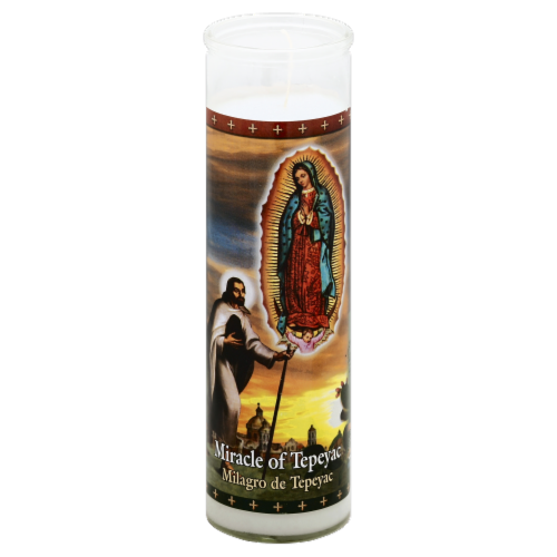 St. Jude Candle Company Miracle of Tepeyac Candle Perspective: top
