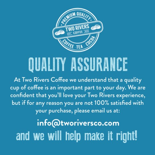 Two Rivers Flavored Coffee Pods Variety Sampler Pack for Keurig K-Cup Makers, 100 count Perspective: top