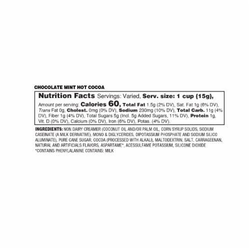 Soho Morocan Mint Hot Chocolate Pods for Keurig K-Cup Brewers, 40 Count Perspective: top
