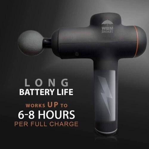 WBM Smart Massage Gun, 4 Massage Heads with 6 Speed Vibration, Deep Muscle Relaxation, Black Perspective: top