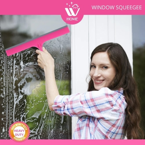 W Home Window Squeegee, Multi-Purpose, Professional Cleaning of Windows, Windshield, & Glass Perspective: top