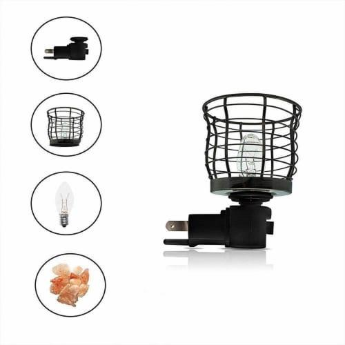 Himalayan Glow Basket Style Night Light, Warm Amber Glow, Himalayan Pink Salt Lamp | 2 Packs Perspective: top