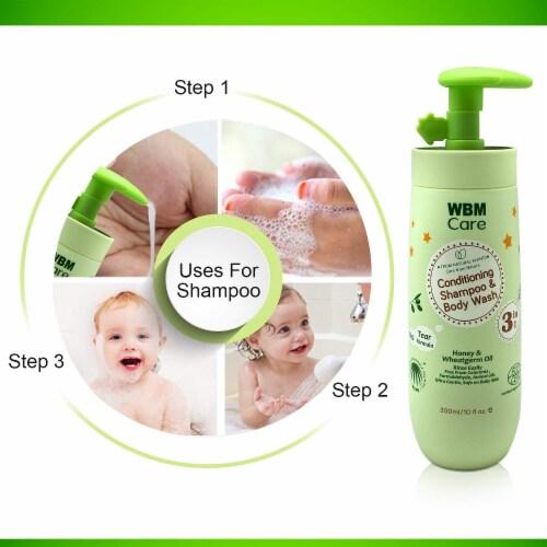 WBM Baby Care Body Wash, Hair Conditioning & Skin Moisturizing, Shampoo & Body Wash   10 Oz Perspective: top