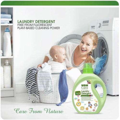 WBM Baby Care Laundry Detergent, Plant Based Liquid Detergent, Fluorescent-Free | 34 Oz Perspective: top