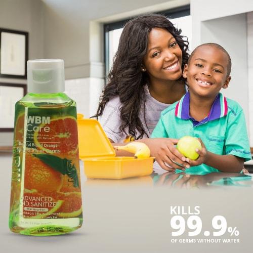 WBM Care Advanced Hand Sanitizer, Alcohol-Based, Blood Orange – Pack of 48/3.5 Oz Each Perspective: top