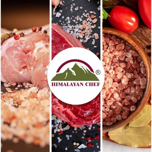 Himalayan Chef Pink Salt, Pure Himalayan Salt, Small Glass Grinder – 6 Packs | 4.2 Oz Each Perspective: top