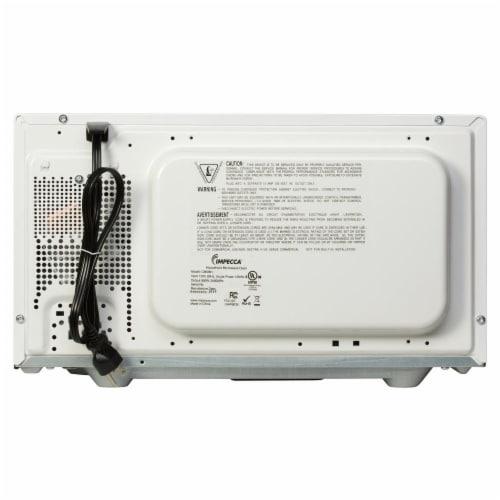 0.9 CU. FT. 900 Watt Countertop Microwave Oven, White Perspective: top