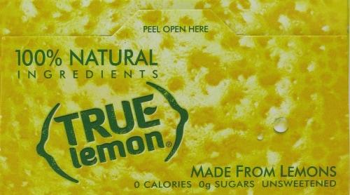 True Lemon Sweetener Perspective: top