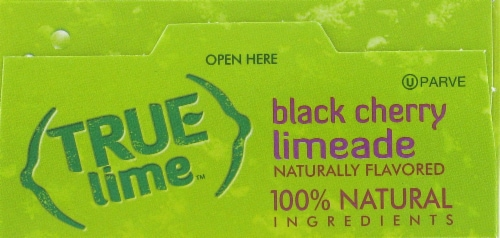 True Lime Black Cherry Limeade Drink Mix Packets Perspective: top