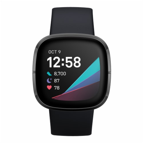 Fitbit Sense - Carbon / Graphite Perspective: top