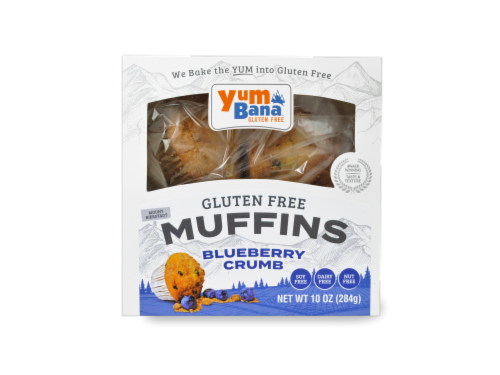 Yumbana Gluten Free Blueberry Crumb Muffins Perspective: top