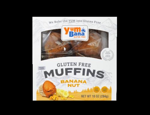 Yumbana Gluten Free Banana Nut Muffins Perspective: top