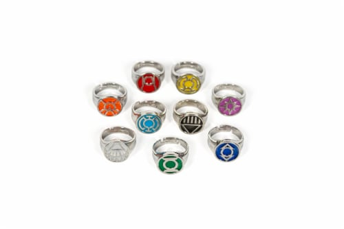 DC Comics Green Lantern Power Rings Emotional Spectrum Power Rings | 9 Ring Set Perspective: top