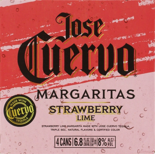 Jose Cuervo Strawberry Lime Margarita Perspective: top