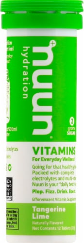 Nuun Hydration Tangerine Lime Effervescent Vitamin Supplement Tablets Perspective: top