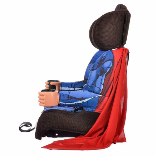 Kids Embrace DC Comics Superman Combination Harness Booster Car Seat with Cape Perspective: top