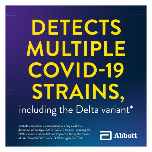 Abbott BinaxNOW COVID-19 Antigen Self Test Kit Perspective: top
