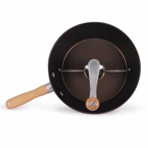 Victorio Deluxe Glaze & Roast Nut Roaster, Brown Perspective: top