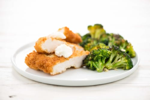 Home Chef Meal Kit Chicken Kiev with Goat Cheese Butter Perspective: top