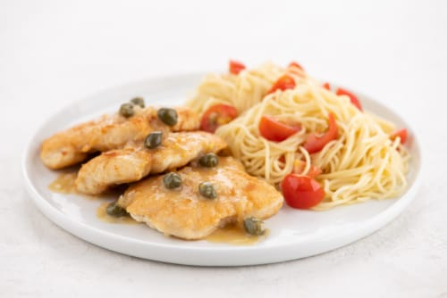 Home Chef Meal Kit Classic Chicken Piccata Perspective: top