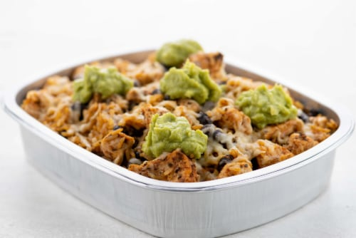 Home Chef Oven Kit Tex-Mex Chicken with Chili Lime Rice and Guacamole Perspective: top