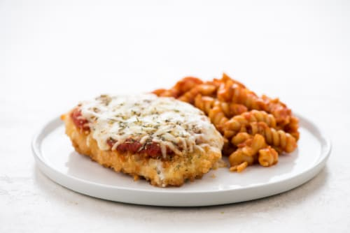 Home Chef Heat and Eat Chicken Parmigiana With Rotini Marinara Perspective: top