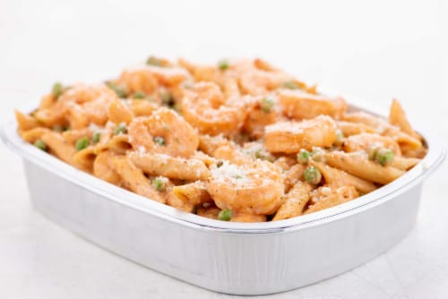 Home Chef Oven Kit Tuscan Tomato Shrimp Penne Perspective: top