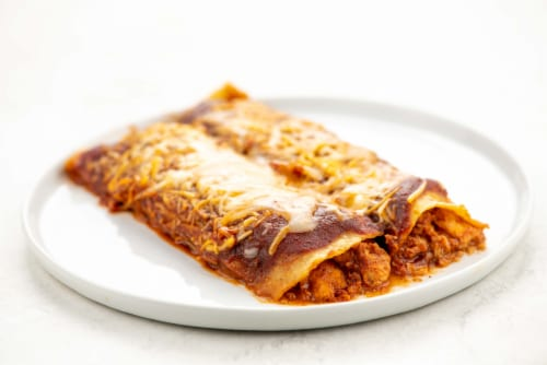 Home Chef Heat and Eat Red Chicken Enchilada Perspective: top