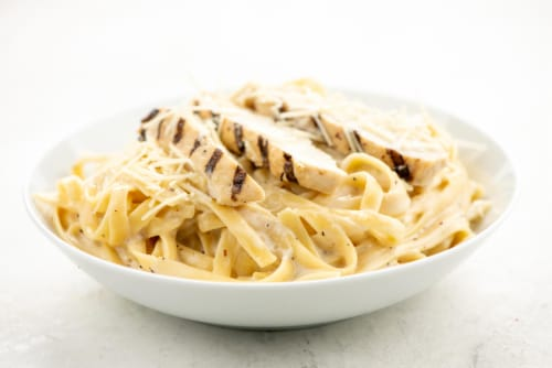 Home Chef Heat and Eat Chicken Fettuccine Alfredo Perspective: top