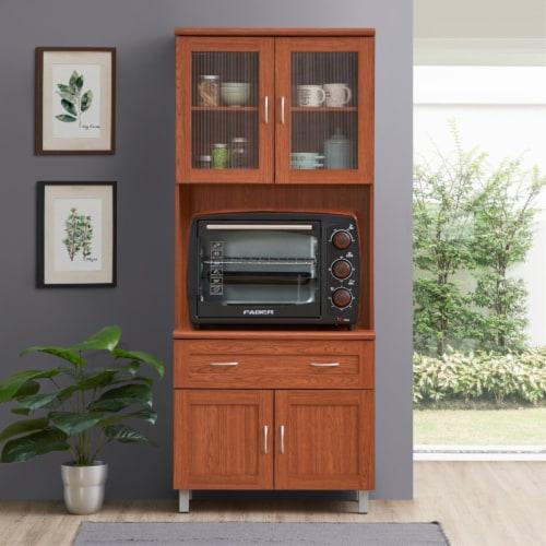 Kitchen Cabinet in Cherry - Hodedah Perspective: top