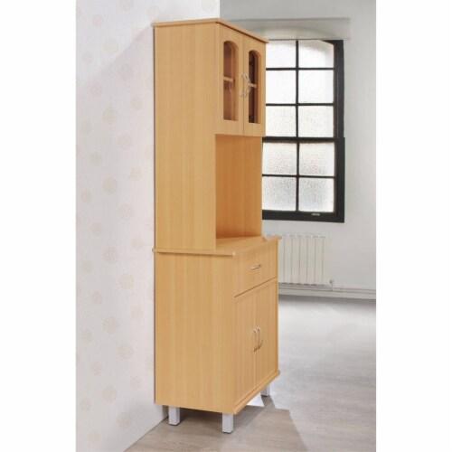 Kitchen Cabinet in Beech Brown - Hodedah Perspective: top