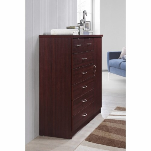 7 Drawer Chest  in Mahogany - Hodedah Perspective: top