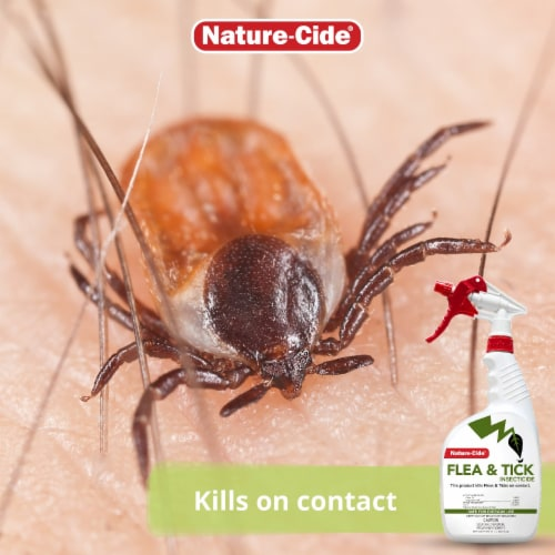 Nature-Cide Flea & Tick Insecticide - Natural Flea & Tick Spray for Dogs Perspective: top