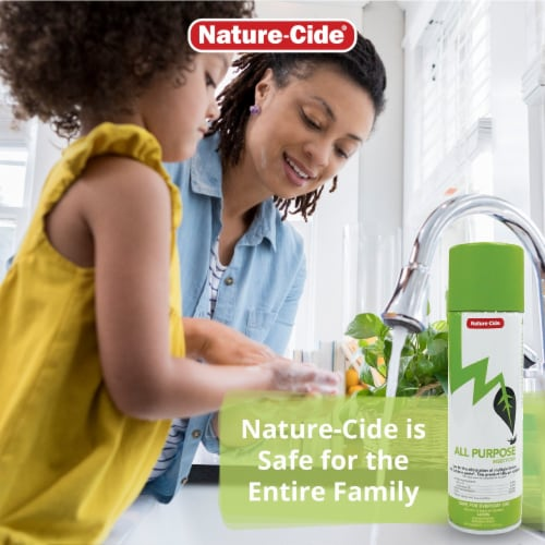 Nature-Cide All-Purpose Aerosol Can Insecticide - Natural Roach, Spider, Mosquito, Ant Spray Perspective: top
