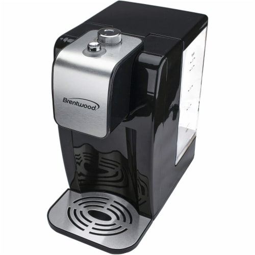 Brentwood KT-2200 2 Liter 1800w Single Touch Instant Hot Water Dispenser, Black Perspective: top