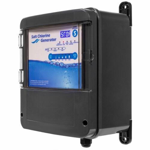 Pool Chlorine Generator System Salt Water Chlorinator for 35,000 Gallons Perspective: top